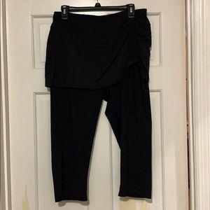 Land's End swim cover-up skirted Capri leggings